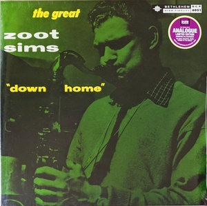 Zoot Sims - Down Home 限定再発アナログ・レコード