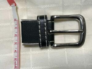 【ハンドメイド素材】ベルト用バックル 幅約3.2cm 黒