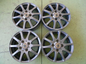 WH1834-FOUR FORCE 01 13×4.00B PCD:100 4穴 +42 中古 4本セット アルミホイール