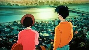 耳をすませば ジブリ美術館 フィルムブックマーカー ★天沢聖司&月島雫★ 朝焼け