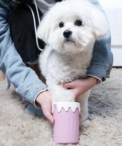 s444 お散歩の後の犬の足洗いクリーナー ペット足クリーナー ポータブル ペットの足洗浄ツール