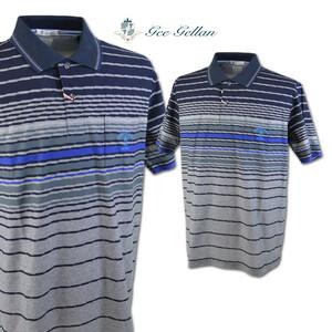 30%OFF【ゲラン】メンズ 半袖ポロシャツ (50)LL 紺 3210-2504-51 GEE GELLAN カジュアル ゴルフ 日本製 大きいサイズ おしゃれ @