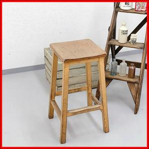 アンティーク 家具 スツール 1920年頃 パイン材 イギリス 英国 家具 椅子 ビンテージ家具 輸入家具 ブロカント シャビー 店舗什器 310A