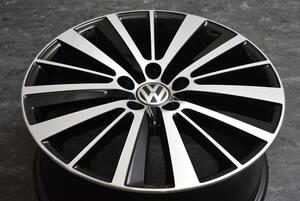 【希少美品】VW フォルクスワーゲン 5G型 ゴルフ ヴァリアント 純正オプション 18in 7.5J+51 PCD112 品番:5C5071498 プレストン スペア等