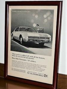 1966年 U.S.A. '60s 洋書雑誌広告 額装品 '67 Oldsmobile Toronado オールズモビル トルネード ( A4サイズ )
