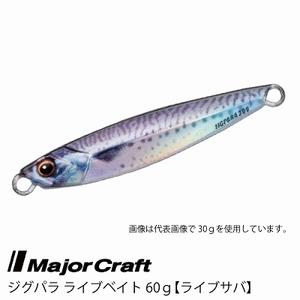 ■Major Craft/メジャークラフト ジグパラ ライブベイト カラーシリーズ 60g JPS-60L 【 #84 ライブサバ】■