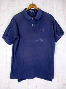 中古 RALPH LAUREN 90's ラルフローレン ポロシャツ ネイビー L #mtp-66