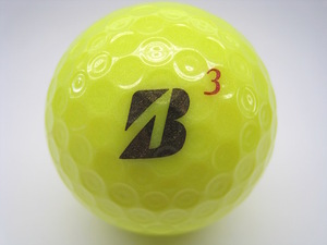 Iクラス 2017年 ブリヂストンゴルフ TOUR B X イエロー (Bマーク) ロゴマーク入り 1球/ロストボール バラ売り