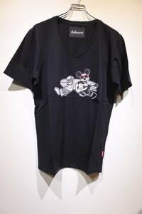 新品 daboro ダボロ Disney ディズニー ミッキー ドナルド MICKEY × DONALD TEE Tシャツ カットソー BLACK 4(L)