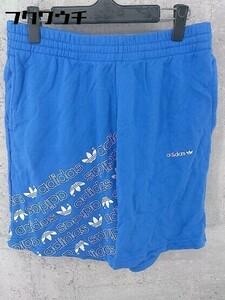 ◇ adidas アディダス トレフォイル スウェット ハーフ ショート パンツ サイズO ブルー メンズ