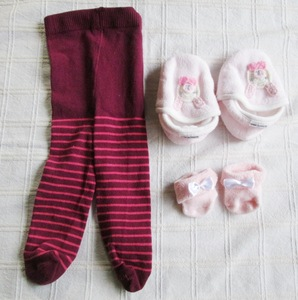 Beauty Product Tights Socks Socks Room Shoes 3 pieces Set M & S Commeress Children's Clothing Baby