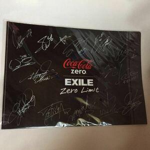 コカ・コーラ Coca・Cola コカコーラ Zero EXILE クリアファイル 新品 ファイル 文具 文房具 非売品 サイン