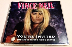 Vince Neil(ヴィンスニール)「You're Invited」 Steve Vai,T-RIDE等 UK盤