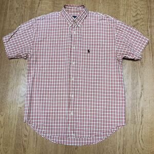 【Polo Ground】by Polo Ground Japan /ポロ グランド メンズシャツ size M チェック柄 半袖シャツ ボタンダウン トップス
