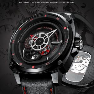 Diasteria・メンズ・スケルトン・トゥールビヨンタイプ・自動巻・ステンレススチール・防水腕時計