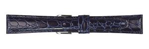【ミモザ】牛革ベルト CRA-N RA型押しワニ ネイビー (16mm/17mm/18mm/19mm/20mm)未使用品