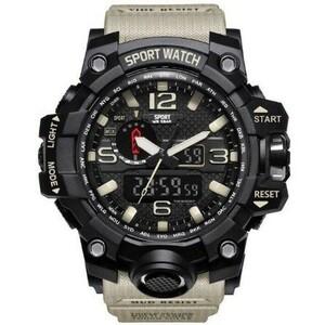 ★☆注目商品☆★デジタルスポーツ腕時計 ミリタリーアーミーメンズウォッチ Led アナログ自動腕時計 カーキ