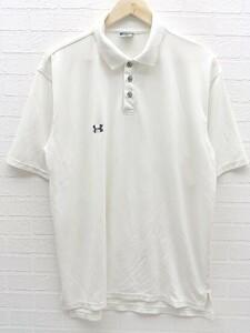 ◇ ◎ UNDER ARMOUR アンダーアーマー 半袖 ポロシャツ サイズS ホワイト メンズ 1002800878130
