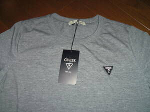 新品♪≪流行・トレンド≫GUESS ≪ゲス≫♪個性的に♪半袖コットンTEEシャツ♪サイズS♪Sグレー♪