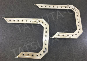 deco truck stainless steel mirror stay 25 angle pipe star . left right set 2t/4t medium sized art truck retro all-purpose old car truck ..00530