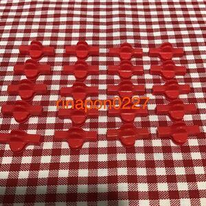 used 「 LaQ ラキュー ジョイント パーツ 赤色 No.6 20個 」 / 90°角度1箇所付き / レッド /20ピース/ パズルブロック 知育玩具おすすめ
