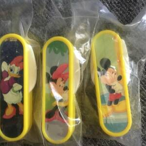 景品◆Kellogg's ケロッグ 非売品「ミッキーマウス ミニーマウス デイジーダック」折りたたみ式フォーク3本 新品