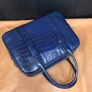 ワニ革 クロコダイル レザー 本革 トート 斜め掛け ショルダーバッグ ビジネス A4/PC対応 通勤旅行 ブリーフケース 鞄 メンズ ハンドバッグ