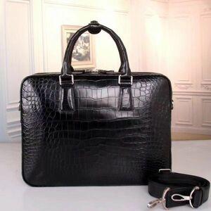 クロコダイル ワニ革 レザー 本革 斜め掛け メンズ ビジネス ショルダーバッグ ブリーフケース A4/PC対応 通勤用 トート ハンドバッグ 鞄