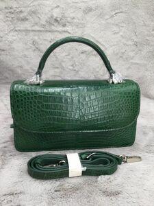 ワニ革保証 クロコダイルレザー 本革 腹部革 2way 斜め掛け ショルダーバッグ 手提げ 大容量 鞄 クラッチバッグ レディース ハンドバッグ