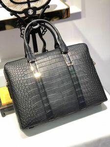 ワニ革 クロコダイル レザー 本革 2way 斜め掛け ショルダーバッグ ハンドバッグ A4/PC対応 ブリーフケース ビジネス ハンドバッグ 鞄 通勤