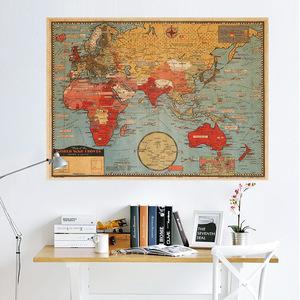 ポスター クラシック 世界地図 m54
