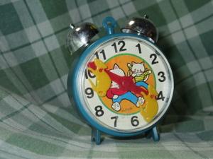 激レア 昭和レトロ 玩具 猫&鼠 カタカタ時計 日本製 プラスチック製 ゼンマイ おもちゃ 当時物 子 ネコ CAT JAPAN アンティーク ビンテージ