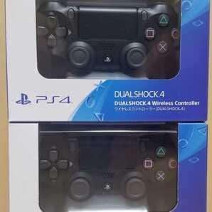 2個セット 新品 送料無料 未開封 デュアルショック 4 SONY PlayStation4 DUALSHOCK 4 純正 ワイヤレスコントローラー PS4 ジェットブラック