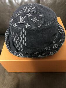 Louis Vuitton NIgo ルイヴィトン コラボ デニム バケットハット 帽子 リバーシブル ブラック 58サイズ