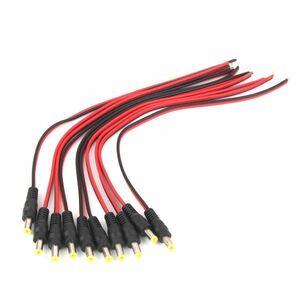 CCTV セキュリティ用 12V DC電源 ピグテール オス 5.5x2.1mm ケーブル プラグ ワイヤー 10個