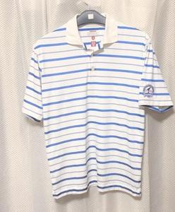 お買い得73/L/白青★アンティグア 吸汗速乾 the 91st PGA Championship, 半袖ポロシャツ Used