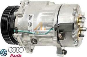 【M's】VW ゴルフ4/ボーラ(1J) ニュービートル(9C/1Y) 純正OEM エアコンコンプレッサー//ACコンプレッサー 1J0820803N 1J0820803L