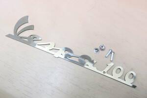 ベスパ ロゴ 100 VESPA エンブレム 筆記体 フロントロゴ 新品