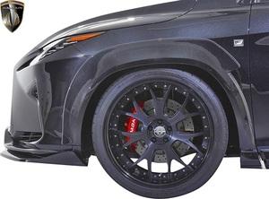 【M's】LEXUS 20系 RX 前期 RX450h RX200t F-SPORT (2015.10-2019.8) AIMGAIN フロント オーバーフェンダー (40mmワイド) エイムゲイン