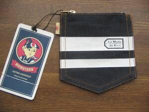 JR西日本×桃太郎ジーンズ ポケット型デニム小銭入れ La Malle de Boisラマルドボァ限定