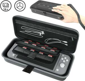 新品 Nintendo Switch Lite ニンテンドースイッチ ライト ケース 収納バッグ 保護カバー 外出や旅行用 EVA耐衝撃 防水(グレー)