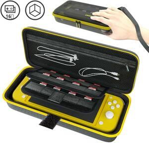 新品 Nintendo Switch Lite ニンテンドースイッチ ライト ケース 収納バッグ 保護カバー 外出や旅行用 EVA耐衝撃 防水(イエロー)
