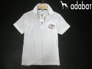 定価14300円■安い! 新品 即決 アダバット 半袖ポロシャツ 日本製 白 メンズ ゴルフ adabat サルーキ刺繍 ホワイト Mサイズ