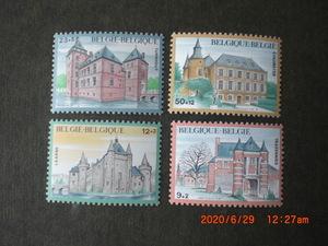 ベルギーの城ーコロンスター城ほか 8種完 未使用 1985・87年 ベルギー共和国 寄付金付き