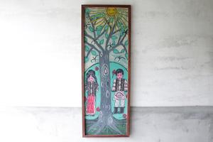 [ картина | дерево . солнце ] искусство рама акварельная живопись Watercolor изобразительное искусство старый инструмент старый мебель .. город bro can to Vintage Roo любитель интерьер