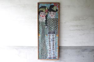 [ картина | подросток девушка ] искусство рама акварельная живопись Watercolor изобразительное искусство старый инструмент старый мебель .. город bro can to Vintage Roo любитель интерьер
