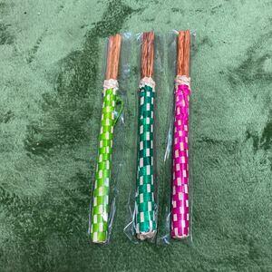 ☆新品未使用☆ベトナム 竹箸 三善セット、ピンク、緑、黄緑。カルディ
