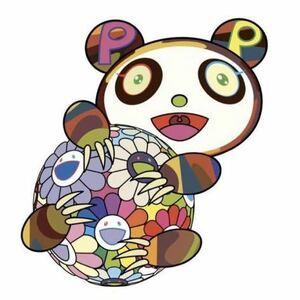 国内正規品 お花の玉に抱きついている子供のパンダ。 村上隆 版画 zingaro パンダ murakami takashi カイカイキキ ポスター サイン付き