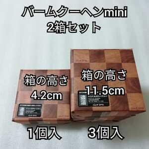 クラブハリエ 2種類2箱 バームクーヘンmini 4.2cm 11.5cm バームクーヘン バウムクーヘン お菓子 詰め合わせ クラブハリエ