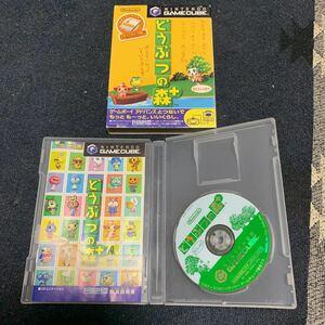 どうぶつの森 + プラス 任天堂 ニンテンドー Nintendo ゲームキューブ GAMECUBE GC ソフト 説明書 メモリーカード欠